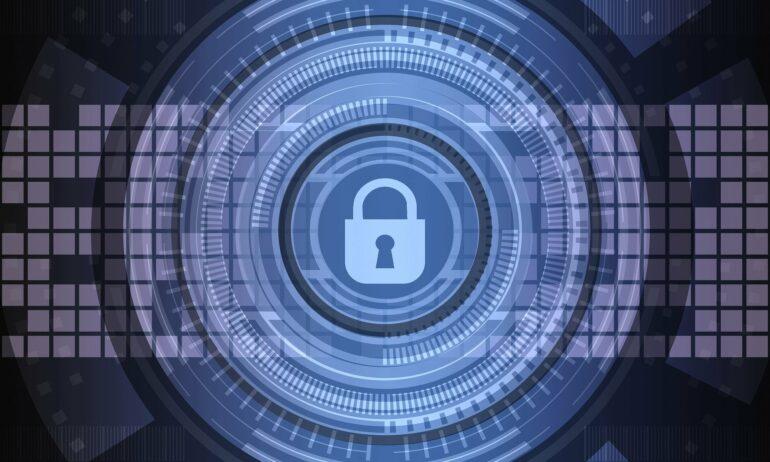 Virtuelle Struktur mit Sicherheitsschloss